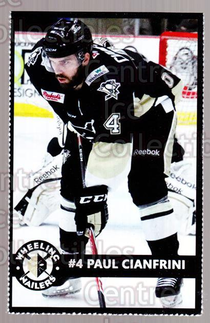 2014-15 Wheeling Nailers #5 Paul Cianfrini<br/>3 In Stock - $3.00 each - <a href=https://centericecollectibles.foxycart.com/cart?name=2014-15%20Wheeling%20Nailers%20%235%20Paul%20Cianfrini...&quantity_max=3&price=$3.00&code=645563 class=foxycart> Buy it now! </a>