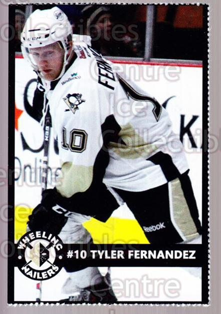 2014-15 Wheeling Nailers #7 Tyler Fernandez<br/>3 In Stock - $3.00 each - <a href=https://centericecollectibles.foxycart.com/cart?name=2014-15%20Wheeling%20Nailers%20%237%20Tyler%20Fernandez...&quantity_max=3&price=$3.00&code=645565 class=foxycart> Buy it now! </a>