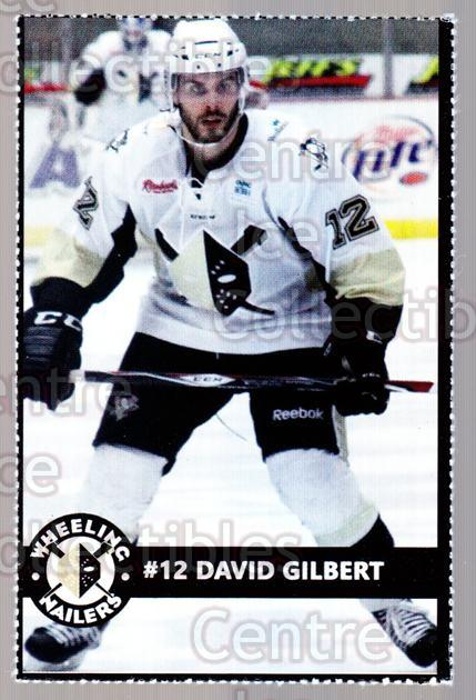 2014-15 Wheeling Nailers #9 David Gilbert<br/>3 In Stock - $3.00 each - <a href=https://centericecollectibles.foxycart.com/cart?name=2014-15%20Wheeling%20Nailers%20%239%20David%20Gilbert...&quantity_max=3&price=$3.00&code=645567 class=foxycart> Buy it now! </a>
