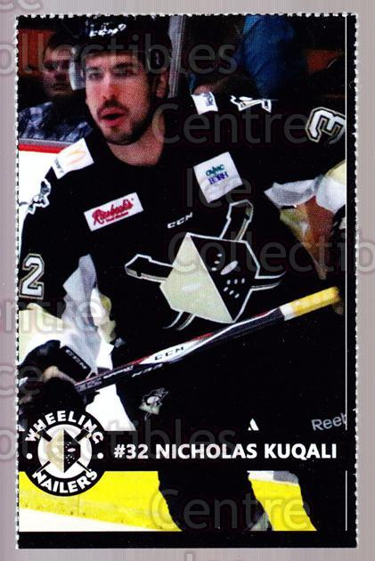 2014-15 Wheeling Nailers #13 Nicholas Kuqali<br/>1 In Stock - $3.00 each - <a href=https://centericecollectibles.foxycart.com/cart?name=2014-15%20Wheeling%20Nailers%20%2313%20Nicholas%20Kuqali...&quantity_max=1&price=$3.00&code=645571 class=foxycart> Buy it now! </a>