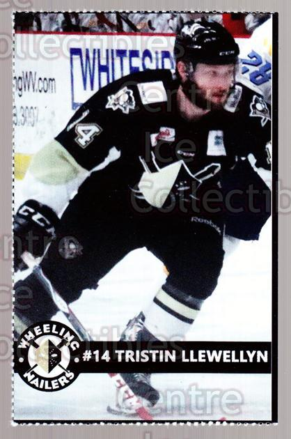 2014-15 Wheeling Nailers #14 Tristin Llewellyn<br/>1 In Stock - $3.00 each - <a href=https://centericecollectibles.foxycart.com/cart?name=2014-15%20Wheeling%20Nailers%20%2314%20Tristin%20Llewell...&quantity_max=1&price=$3.00&code=645572 class=foxycart> Buy it now! </a>