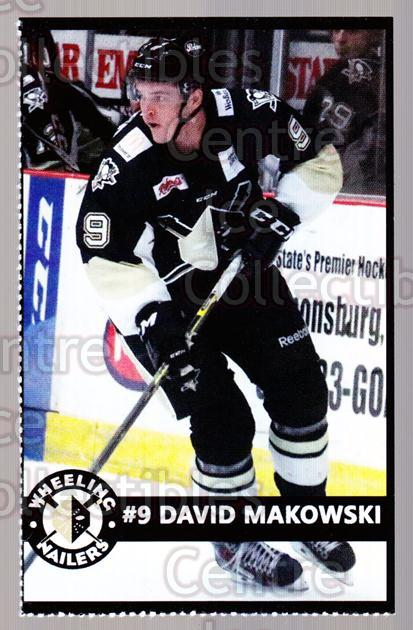 2014-15 Wheeling Nailers #15 David Makowski<br/>2 In Stock - $3.00 each - <a href=https://centericecollectibles.foxycart.com/cart?name=2014-15%20Wheeling%20Nailers%20%2315%20David%20Makowski...&quantity_max=2&price=$3.00&code=645573 class=foxycart> Buy it now! </a>