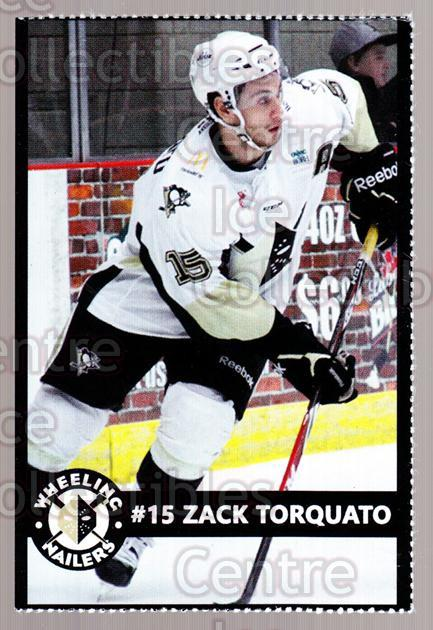 2014-15 Wheeling Nailers #23 Zack Torquato<br/>2 In Stock - $3.00 each - <a href=https://centericecollectibles.foxycart.com/cart?name=2014-15%20Wheeling%20Nailers%20%2323%20Zack%20Torquato...&quantity_max=2&price=$3.00&code=645581 class=foxycart> Buy it now! </a>