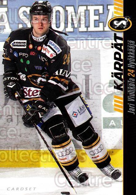 2012-13 Finnish Cardset #93 Jari Viuhkola<br/>1 In Stock - $2.00 each - <a href=https://centericecollectibles.foxycart.com/cart?name=2012-13%20Finnish%20Cardset%20%2393%20Jari%20Viuhkola...&quantity_max=1&price=$2.00&code=646336 class=foxycart> Buy it now! </a>