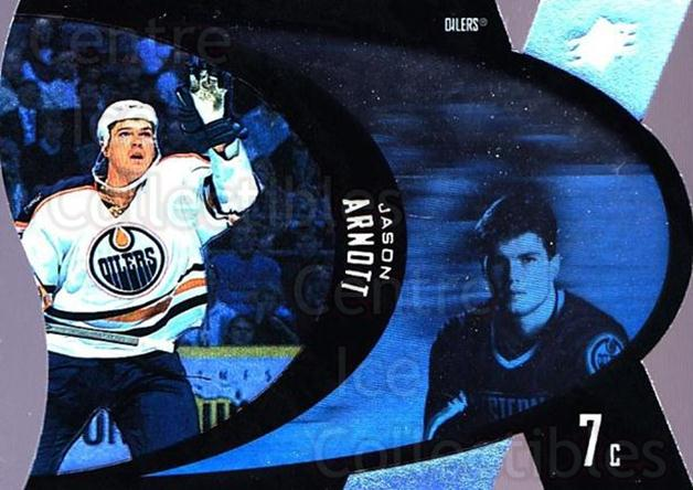 1997-98 SPx #18 Jason Arnott<br/>8 In Stock - $1.00 each - <a href=https://centericecollectibles.foxycart.com/cart?name=1997-98%20SPx%20%2318%20Jason%20Arnott...&quantity_max=8&price=$1.00&code=64695 class=foxycart> Buy it now! </a>