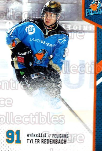 2014-15 Finnish Cardset #108 Tyler Redenbach<br/>1 In Stock - $2.00 each - <a href=https://centericecollectibles.foxycart.com/cart?name=2014-15%20Finnish%20Cardset%20%23108%20Tyler%20Redenbach...&quantity_max=1&price=$2.00&code=647024 class=foxycart> Buy it now! </a>