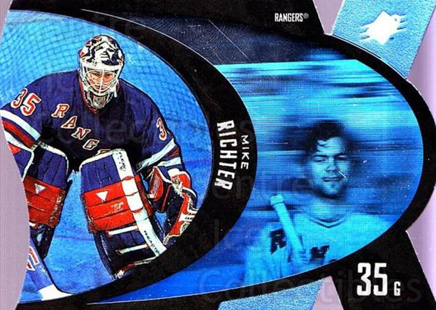 1997-98 SPx #31 Mike Richter<br/>8 In Stock - $1.00 each - <a href=https://centericecollectibles.foxycart.com/cart?name=1997-98%20SPx%20%2331%20Mike%20Richter...&quantity_max=8&price=$1.00&code=64707 class=foxycart> Buy it now! </a>