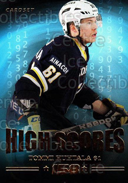 2013-14 Finnish Cardset High Scores #1 Tommi Huhtala<br/>3 In Stock - $3.00 each - <a href=https://centericecollectibles.foxycart.com/cart?name=2013-14%20Finnish%20Cardset%20High%20Scores%20%231%20Tommi%20Huhtala...&quantity_max=3&price=$3.00&code=647299 class=foxycart> Buy it now! </a>