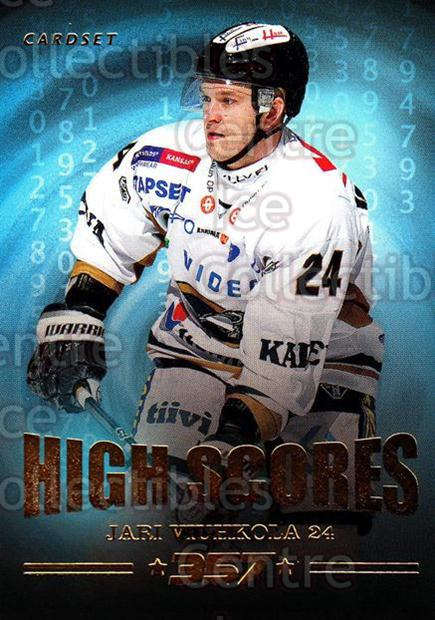 2013-14 Finnish Cardset High Scores #8 Jari Viuhkola<br/>3 In Stock - $3.00 each - <a href=https://centericecollectibles.foxycart.com/cart?name=2013-14%20Finnish%20Cardset%20High%20Scores%20%238%20Jari%20Viuhkola...&quantity_max=3&price=$3.00&code=647306 class=foxycart> Buy it now! </a>