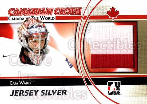 2011-12 ITG Canada vs The World Canadian Cloth Silver #29 Cam Ward<br/>1 In Stock - $10.00 each - <a href=https://centericecollectibles.foxycart.com/cart?name=2011-12%20ITG%20Canada%20vs%20The%20World%20Canadian%20Cloth%20Silver%20%2329%20Cam%20Ward...&price=$10.00&code=647666 class=foxycart> Buy it now! </a>