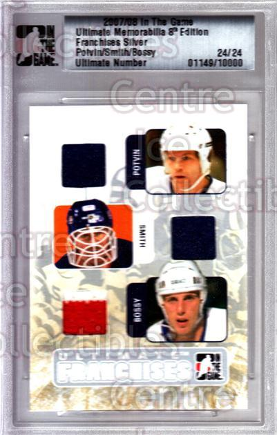 2007-08 ITG Ultimate Memorabilia Franchises #16 Denis Potvin, Billy Smith, Mike Bossy<br/>1 In Stock - $15.00 each - <a href=https://centericecollectibles.foxycart.com/cart?name=2007-08%20ITG%20Ultimate%20Memorabilia%20Franchises%20%2316%20Denis%20Potvin,%20B...&price=$15.00&code=647826 class=foxycart> Buy it now! </a>