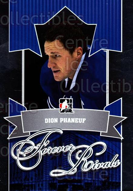2012-13 ITG Forever Rivals #98 Dion Phaneuf<br/>2 In Stock - $3.00 each - <a href=https://centericecollectibles.foxycart.com/cart?name=2012-13%20ITG%20Forever%20Rivals%20%2398%20Dion%20Phaneuf...&price=$3.00&code=647929 class=foxycart> Buy it now! </a>