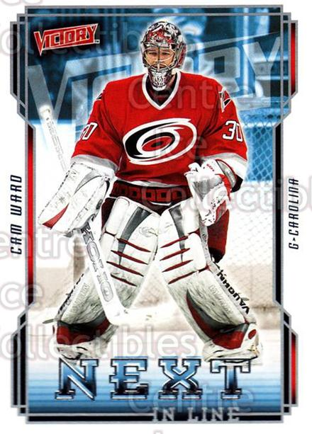 2006-07 UD Victory Next in Line #13 Cam Ward<br/>1 In Stock - $2.00 each - <a href=https://centericecollectibles.foxycart.com/cart?name=2006-07%20UD%20Victory%20Next%20in%20Line%20%2313%20Cam%20Ward...&price=$2.00&code=648067 class=foxycart> Buy it now! </a>