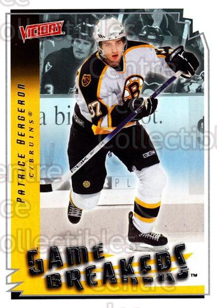 2006-07 UD Victory Game Breakers #4 Patrice Bergeron<br/>1 In Stock - $3.00 each - <a href=https://centericecollectibles.foxycart.com/cart?name=2006-07%20UD%20Victory%20Game%20Breakers%20%234%20Patrice%20Bergero...&quantity_max=1&price=$3.00&code=648108 class=foxycart> Buy it now! </a>