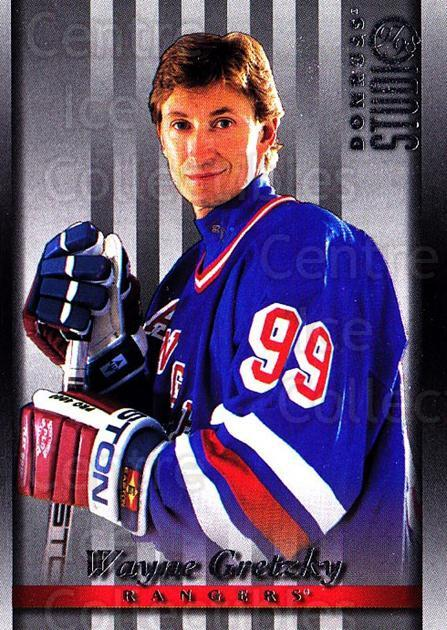1997-98 Studio #1 Wayne Gretzky<br/>1 In Stock - $3.00 each - <a href=https://centericecollectibles.foxycart.com/cart?name=1997-98%20Studio%20%231%20Wayne%20Gretzky...&quantity_max=1&price=$3.00&code=64818 class=foxycart> Buy it now! </a>