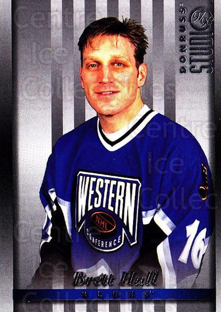 1997-98 Studio #11 Brett Hull<br/>7 In Stock - $2.00 each - <a href=https://centericecollectibles.foxycart.com/cart?name=1997-98%20Studio%20%2311%20Brett%20Hull...&quantity_max=7&price=$2.00&code=64828 class=foxycart> Buy it now! </a>