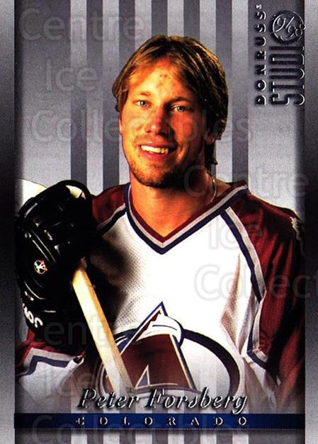 1997-98 Studio #15 Peter Forsberg<br/>3 In Stock - $1.00 each - <a href=https://centericecollectibles.foxycart.com/cart?name=1997-98%20Studio%20%2315%20Peter%20Forsberg...&quantity_max=3&price=$1.00&code=64833 class=foxycart> Buy it now! </a>