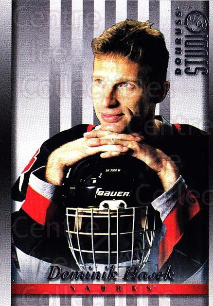 1997-98 Studio #2 Dominik Hasek<br/>5 In Stock - $1.00 each - <a href=https://centericecollectibles.foxycart.com/cart?name=1997-98%20Studio%20%232%20Dominik%20Hasek...&quantity_max=5&price=$1.00&code=64838 class=foxycart> Buy it now! </a>