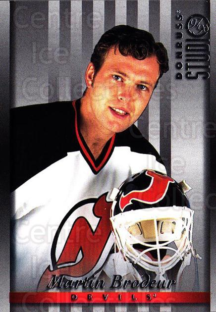 1997-98 Studio #20 Martin Brodeur<br/>2 In Stock - $2.00 each - <a href=https://centericecollectibles.foxycart.com/cart?name=1997-98%20Studio%20%2320%20Martin%20Brodeur...&price=$2.00&code=64839 class=foxycart> Buy it now! </a>