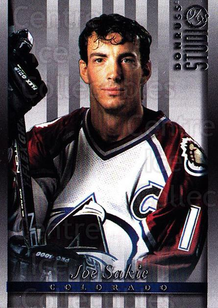 1997-98 Studio #23 Joe Sakic<br/>7 In Stock - $2.00 each - <a href=https://centericecollectibles.foxycart.com/cart?name=1997-98%20Studio%20%2323%20Joe%20Sakic...&quantity_max=7&price=$2.00&code=64842 class=foxycart> Buy it now! </a>