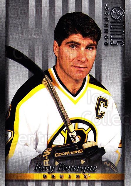 1997-98 Studio #28 Ray Bourque<br/>7 In Stock - $1.00 each - <a href=https://centericecollectibles.foxycart.com/cart?name=1997-98%20Studio%20%2328%20Ray%20Bourque...&quantity_max=7&price=$1.00&code=64847 class=foxycart> Buy it now! </a>