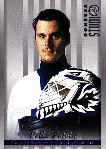 1997-98 Studio #66 Felix Potvin<br/>4 In Stock - $1.00 each - <a href=https://centericecollectibles.foxycart.com/cart?name=1997-98%20Studio%20%2366%20Felix%20Potvin...&quantity_max=4&price=$1.00&code=64888 class=foxycart> Buy it now! </a>