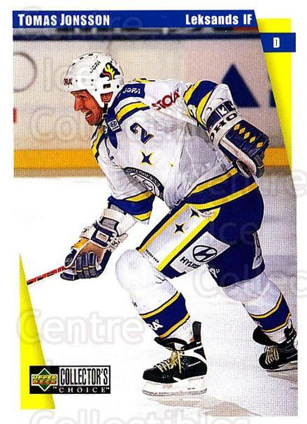 1997-98 Swedish Collectors Choice #101 Tomas Jonsson<br/>9 In Stock - $2.00 each - <a href=https://centericecollectibles.foxycart.com/cart?name=1997-98%20Swedish%20Collectors%20Choice%20%23101%20Tomas%20Jonsson...&quantity_max=9&price=$2.00&code=64938 class=foxycart> Buy it now! </a>