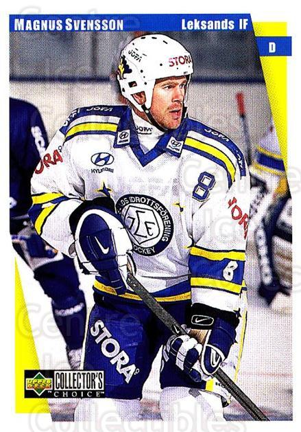 1997-98 Swedish Collectors Choice #104 Magnus Svensson<br/>7 In Stock - $2.00 each - <a href=https://centericecollectibles.foxycart.com/cart?name=1997-98%20Swedish%20Collectors%20Choice%20%23104%20Magnus%20Svensson...&quantity_max=7&price=$2.00&code=64941 class=foxycart> Buy it now! </a>