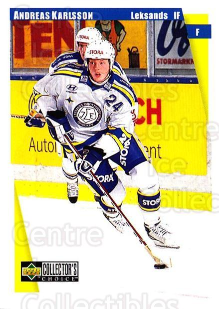 1997-98 Swedish Collectors Choice #105 Andreas Karlsson<br/>4 In Stock - $2.00 each - <a href=https://centericecollectibles.foxycart.com/cart?name=1997-98%20Swedish%20Collectors%20Choice%20%23105%20Andreas%20Karlsso...&quantity_max=4&price=$2.00&code=64942 class=foxycart> Buy it now! </a>