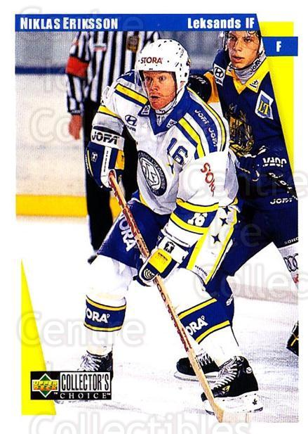 1997-98 Swedish Collectors Choice #112 Niklas Eriksson<br/>10 In Stock - $2.00 each - <a href=https://centericecollectibles.foxycart.com/cart?name=1997-98%20Swedish%20Collectors%20Choice%20%23112%20Niklas%20Eriksson...&quantity_max=10&price=$2.00&code=64950 class=foxycart> Buy it now! </a>
