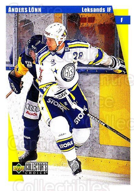 1997-98 Swedish Collectors Choice #116 Anders Lonn<br/>8 In Stock - $2.00 each - <a href=https://centericecollectibles.foxycart.com/cart?name=1997-98%20Swedish%20Collectors%20Choice%20%23116%20Anders%20Lonn...&quantity_max=8&price=$2.00&code=64954 class=foxycart> Buy it now! </a>