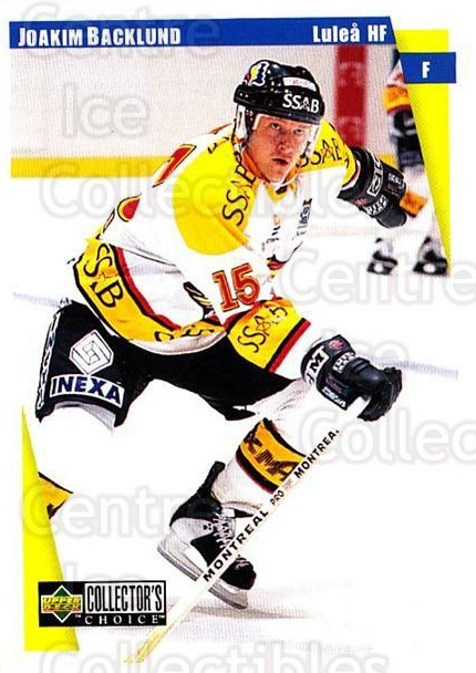 1997-98 Swedish Collectors Choice #126 Joakim Backlund<br/>6 In Stock - $2.00 each - <a href=https://centericecollectibles.foxycart.com/cart?name=1997-98%20Swedish%20Collectors%20Choice%20%23126%20Joakim%20Backlund...&quantity_max=6&price=$2.00&code=64965 class=foxycart> Buy it now! </a>
