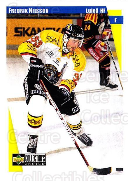1997-98 Swedish Collectors Choice #132 Fredrik Nilsson<br/>10 In Stock - $2.00 each - <a href=https://centericecollectibles.foxycart.com/cart?name=1997-98%20Swedish%20Collectors%20Choice%20%23132%20Fredrik%20Nilsson...&quantity_max=10&price=$2.00&code=64972 class=foxycart> Buy it now! </a>