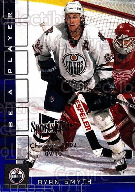 2001-02 BAP Memorabilia Sapphire SportsFest #94 Ryan Smyth<br/>1 In Stock - $5.00 each - <a href=https://centericecollectibles.foxycart.com/cart?name=2001-02%20BAP%20Memorabilia%20Sapphire%20SportsFest%20%2394%20Ryan%20Smyth...&quantity_max=1&price=$5.00&code=649881 class=foxycart> Buy it now! </a>