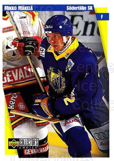 1997-98 Swedish Collectors Choice #180 Mikko Makela<br/>12 In Stock - $2.00 each - <a href=https://centericecollectibles.foxycart.com/cart?name=1997-98%20Swedish%20Collectors%20Choice%20%23180%20Mikko%20Makela...&quantity_max=12&price=$2.00&code=65020 class=foxycart> Buy it now! </a>