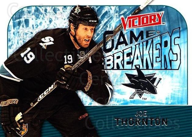 2009-10 UD Victory Game Breakers #6 Joe Thornton<br/>2 In Stock - $2.00 each - <a href=https://centericecollectibles.foxycart.com/cart?name=2009-10%20UD%20Victory%20Game%20Breakers%20%236%20Joe%20Thornton...&quantity_max=2&price=$2.00&code=650258 class=foxycart> Buy it now! </a>