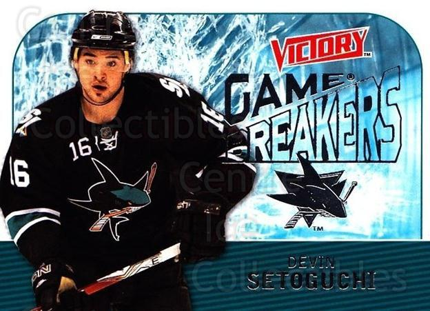 2009-10 UD Victory Game Breakers #19 Devin Setoguchi<br/>2 In Stock - $2.00 each - <a href=https://centericecollectibles.foxycart.com/cart?name=2009-10%20UD%20Victory%20Game%20Breakers%20%2319%20Devin%20Setoguchi...&quantity_max=2&price=$2.00&code=650271 class=foxycart> Buy it now! </a>