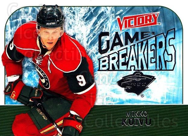 2009-10 UD Victory Game Breakers #23 Mikko Koivu<br/>2 In Stock - $2.00 each - <a href=https://centericecollectibles.foxycart.com/cart?name=2009-10%20UD%20Victory%20Game%20Breakers%20%2323%20Mikko%20Koivu...&quantity_max=2&price=$2.00&code=650275 class=foxycart> Buy it now! </a>