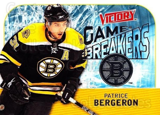 2009-10 UD Victory Game Breakers #35 Patrice Bergeron<br/>2 In Stock - $3.00 each - <a href=https://centericecollectibles.foxycart.com/cart?name=2009-10%20UD%20Victory%20Game%20Breakers%20%2335%20Patrice%20Bergero...&quantity_max=2&price=$3.00&code=650287 class=foxycart> Buy it now! </a>