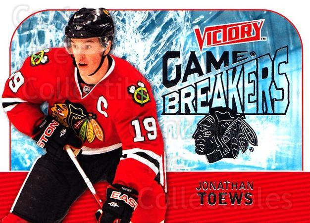 2009-10 UD Victory Game Breakers #44 Jonathan Toews<br/>2 In Stock - $3.00 each - <a href=https://centericecollectibles.foxycart.com/cart?name=2009-10%20UD%20Victory%20Game%20Breakers%20%2344%20Jonathan%20Toews...&quantity_max=2&price=$3.00&code=650296 class=foxycart> Buy it now! </a>
