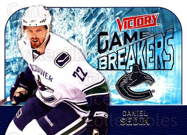 2009-10 UD Victory Game Breakers #47 Daniel Sedin<br/>3 In Stock - $2.00 each - <a href=https://centericecollectibles.foxycart.com/cart?name=2009-10%20UD%20Victory%20Game%20Breakers%20%2347%20Daniel%20Sedin...&quantity_max=3&price=$2.00&code=650299 class=foxycart> Buy it now! </a>