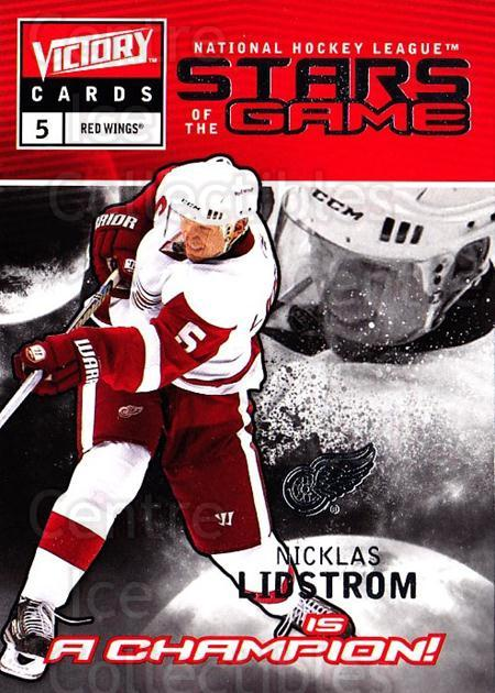 2009-10 UD Victory Stars of the Game #6 Nicklas Lidstrom<br/>2 In Stock - $2.00 each - <a href=https://centericecollectibles.foxycart.com/cart?name=2009-10%20UD%20Victory%20Stars%20of%20the%20Game%20%236%20Nicklas%20Lidstro...&quantity_max=2&price=$2.00&code=650308 class=foxycart> Buy it now! </a>