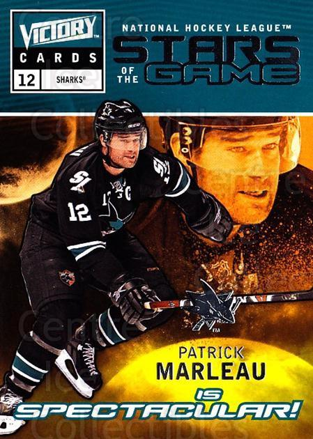 2009-10 UD Victory Stars of the Game #31 Patrick Marleau<br/>2 In Stock - $2.00 each - <a href=https://centericecollectibles.foxycart.com/cart?name=2009-10%20UD%20Victory%20Stars%20of%20the%20Game%20%2331%20Patrick%20Marleau...&quantity_max=2&price=$2.00&code=650333 class=foxycart> Buy it now! </a>