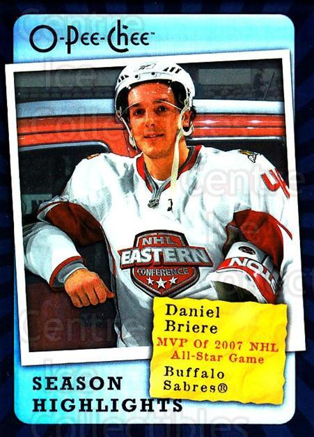 2007-08 O-Pee-Chee Season Highlights #6 Daniel Briere<br/>1 In Stock - $2.00 each - <a href=https://centericecollectibles.foxycart.com/cart?name=2007-08%20O-Pee-Chee%20Season%20Highlights%20%236%20Daniel%20Briere...&quantity_max=1&price=$2.00&code=650358 class=foxycart> Buy it now! </a>