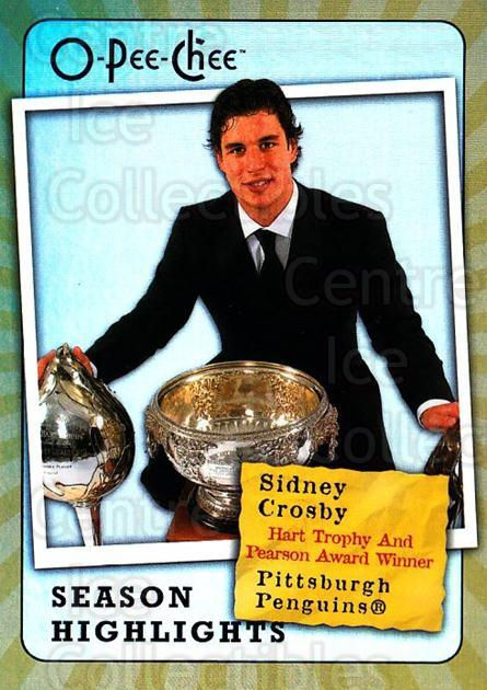 2007-08 O-Pee-Chee Season Highlights #7 Sidney Crosby<br/>1 In Stock - $5.00 each - <a href=https://centericecollectibles.foxycart.com/cart?name=2007-08%20O-Pee-Chee%20Season%20Highlights%20%237%20Sidney%20Crosby...&quantity_max=1&price=$5.00&code=650359 class=foxycart> Buy it now! </a>