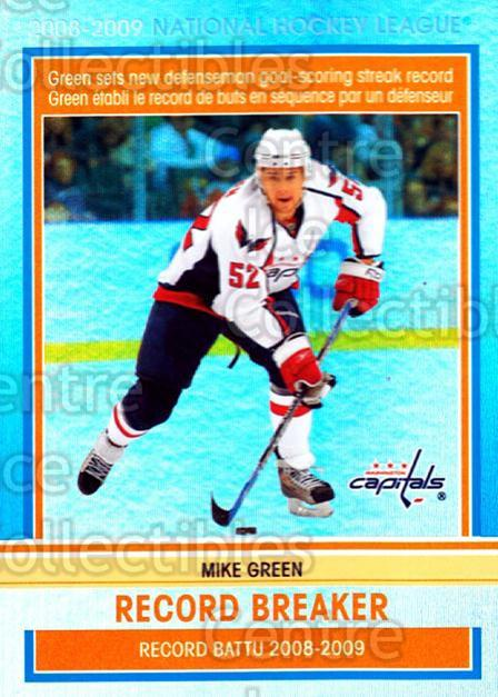 2009-10 O-pee-chee Record Breakers #7 Mike Green<br/>1 In Stock - $3.00 each - <a href=https://centericecollectibles.foxycart.com/cart?name=2009-10%20O-pee-chee%20Record%20Breakers%20%237%20Mike%20Green...&price=$3.00&code=650429 class=foxycart> Buy it now! </a>