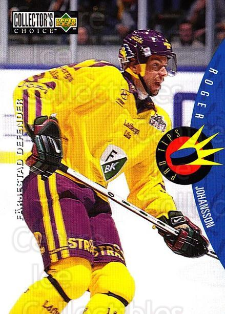 1997-98 Swedish Collectors Choice #217 Roger Johansson<br/>7 In Stock - $2.00 each - <a href=https://centericecollectibles.foxycart.com/cart?name=1997-98%20Swedish%20Collectors%20Choice%20%23217%20Roger%20Johansson...&quantity_max=7&price=$2.00&code=65055 class=foxycart> Buy it now! </a>
