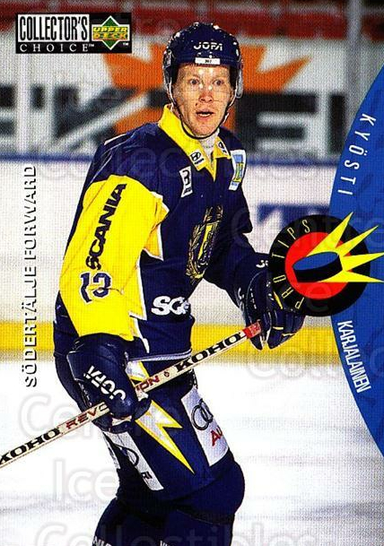 1997-98 Swedish Collectors Choice #219 Kyosti Karjalainen<br/>2 In Stock - $2.00 each - <a href=https://centericecollectibles.foxycart.com/cart?name=1997-98%20Swedish%20Collectors%20Choice%20%23219%20Kyosti%20Karjalai...&quantity_max=2&price=$2.00&code=65057 class=foxycart> Buy it now! </a>