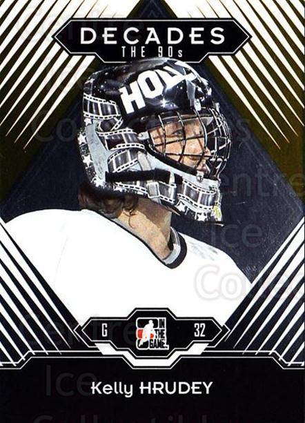2013-14 ITG Decades 1990s Gold #86 Kelly Hrudey<br/>3 In Stock - $10.00 each - <a href=https://centericecollectibles.foxycart.com/cart?name=2013-14%20ITG%20Decades%201990s%20Gold%20%2386%20Kelly%20Hrudey...&quantity_max=3&price=$10.00&code=651578 class=foxycart> Buy it now! </a>