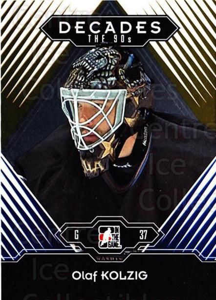 2013-14 ITG Decades 1990s Gold #112 Olaf Kolzig<br/>3 In Stock - $10.00 each - <a href=https://centericecollectibles.foxycart.com/cart?name=2013-14%20ITG%20Decades%201990s%20Gold%20%23112%20Olaf%20Kolzig...&quantity_max=3&price=$10.00&code=651604 class=foxycart> Buy it now! </a>